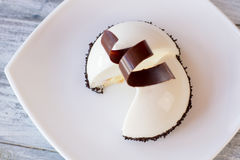 Half sphere dessert. Royalty Free Stock Photography