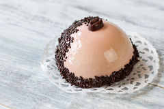 Half sphere dessert with icing. Stock Photography