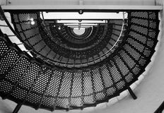 Half Spiral. Spiral Staircase, Saint Augustine Lighthouse Florida royalty free stock image