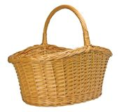 Half-Split Splint Willow Wicker Basket Stock Images