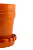 Half stack of plant pots Royalty Free Stock Photos