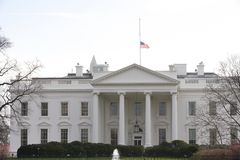 Half Staff American Flag at the White House Stock Images