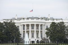 Half Staff American Flag at the White House Stock Photos