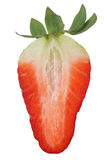Half strawberry fruit isolated Royalty Free Stock Photo