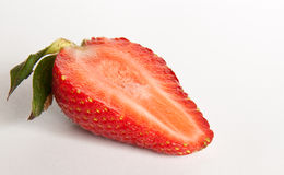 Half Strawberry. Group of strawberry on white background royalty free stock images