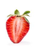 Half of strawberry isolated on white background. Royalty Free Stock Photography