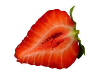 Half of strawberry isolated Royalty Free Stock Photography