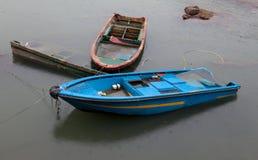 Half submerged boats. Cheung Chau. Hong Kong. Royalty Free Stock Photo