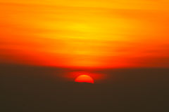 Half sun. A sunrise the field in Thailand Royalty Free Stock Images