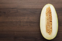 Half of sweet melon Royalty Free Stock Photo