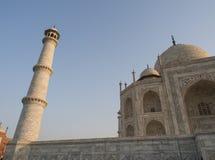 Half of Taj Mahal. Taj Mahal, an asian 7 wonder, in the half section Stock Photos