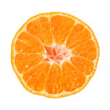 Half tangerine Stock Photos