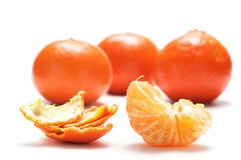 Half Tangerine And Shell. Stock Photography