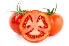 Half of thr tomato Stock Image