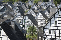 Half timber framed houses Stock Photo