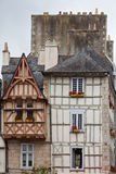 Half-timber houses in Quimper Stock Photography