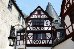 Half timbered architecture at schloss Burresheiim Royalty Free Stock Photos