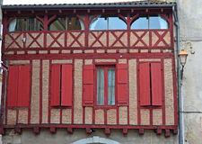 Half Timbered Architecture Royalty Free Stock Photos