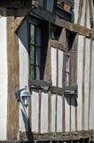 Half-timbered building in Dinan Stock Photo