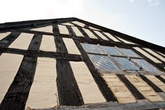 Half-timbered building in the UK stock images