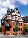 Half-timbered building. Medieval building in Schwedt / Oder Stock Photography