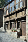 Half-timbered building in the Rue du Petit Port, in Dinan Royalty Free Stock Photo