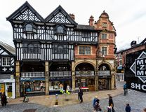 Half timbered building in Chester royalty free stock photos