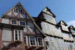Half-timbered buildings - Celle, Germany Royalty Free Stock Image