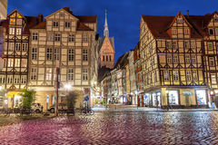 Half-timbered buildings of old town in Hannover Stock Photos
