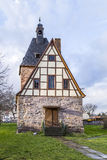 half timbered church in Rottleben, Thuringia Royalty Free Stock Photo