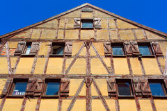 Half-timbered colorful house Royalty Free Stock Photos