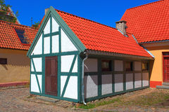 Half-timbered colorful house Royalty Free Stock Photo