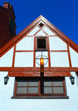 Half-timbered colorful house Stock Photo