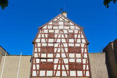 Half-timbered colorful house Stock Photography
