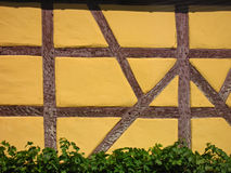 Half-timbered facade. Of an old house as a background Royalty Free Stock Photo