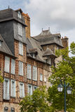 Half timbered facade in Rennes Royalty Free Stock Images