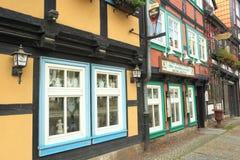 Half-timbered facades in Halberstadt Stock Images