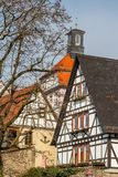 Half-timbered facades of Heppenheim old town. Germany Royalty Free Stock Photography