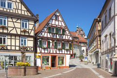 Half-timbered facades in the historical Old Town of Gernsbach Royalty Free Stock Image