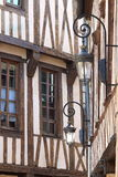 Half-timbered gables, Dijon, France Royalty Free Stock Photos
