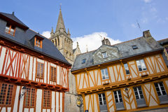 Half-timbered Häuser - Vannes Stockfotos