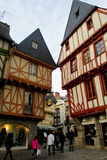 Half-timbered historical houses in France Stock Photography