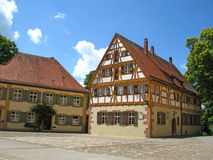 Half-timbered house. Old half-timbered house in Weißenburg, Germany Stock Photo