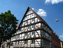 Half-timbered house Stock Image