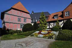 Half-timbered house. Of Wernigerode Royalty Free Stock Image