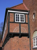 Half-timbered house. Partial view of a half-timbered house stock photography
