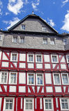 Half-timbered House. Beautiful half-timbered house at the historic district of Marburg, Hesse, Germany Royalty Free Stock Photography