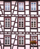 Half-timbered house. Half-timbered facade of a typical house at a small German village Royalty Free Stock Photos