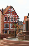 Half Timbered House. Restored half timbered house in Gelnhausen, Germany Stock Photo