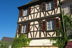 Half-timbered house,  Alsace, France Royalty Free Stock Photo